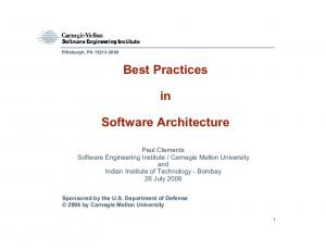 Best Practices. Software Architecture