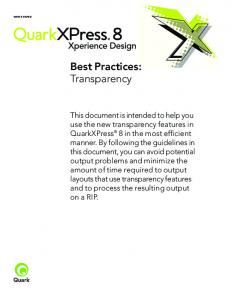 Best Practices: Transparency