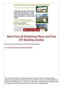 Best Price 59 Workshop Plans and Free DIY Building Guides