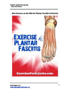 Best Sources on the Web for Plantar Fasciitis & Exercise