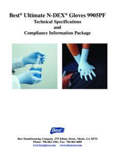Best Ultimate N-DEX Gloves 9905PF