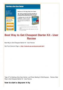 Best Way to Get Cheapest Starter Kit - User Review