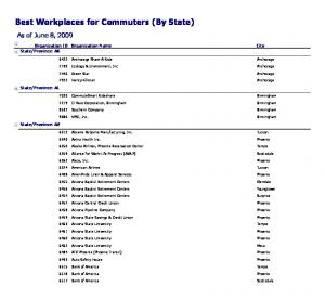 Best Workplaces for Commuters (By State)