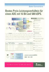 Bestes Preis-Leistungsverhaltnis fiir einen ADC mit 16 Bit und 500 ksps