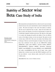 Beta: Case Study of India
