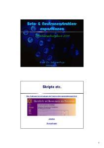 Beta- & Neutronenstrahlenexpositionen