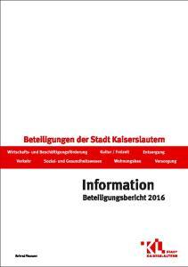 Beteiligungsbericht 2016