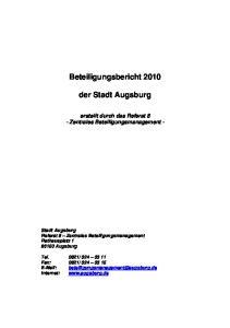 Beteiligungsbericht der Stadt Augsburg