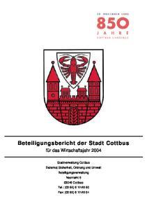Beteiligungsbericht der Stadt Cottbus