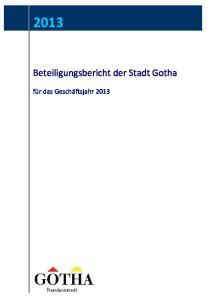 Beteiligungsbericht der Stadt Gotha