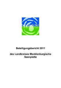 Beteiligungsbericht des Landkreises Mecklenburgische Seenplatte