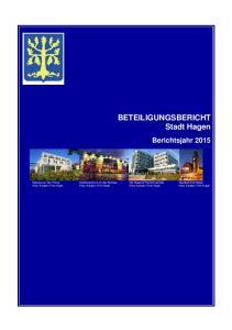 BETEILIGUNGSBERICHT Stadt Hagen