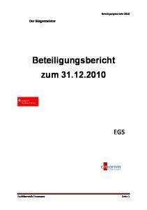Beteiligungsbericht zum