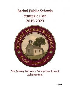 Bethel Public Schools Strategic Plan
