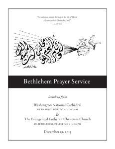Bethlehem Prayer Service