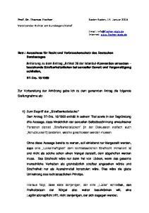 Betr.: Ausschuss für Recht und Verbraucherschutz des Deutschen Bundestages