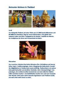 Betreutes Wohnen in Thailand
