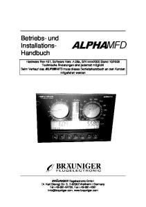 Betriebs- und Installations- Handbuch