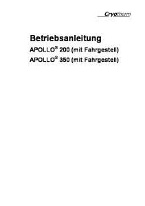 Betriebsanleitung. APOLLO 200 (mit Fahrgestell) APOLLO 350 (mit Fahrgestell)