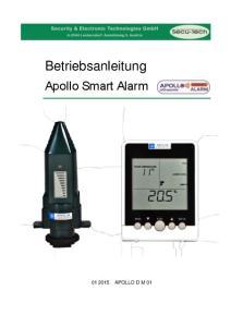 Betriebsanleitung. Apollo Smart Alarm APOLLO D M 01