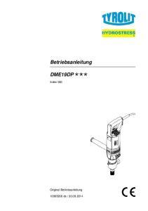 Betriebsanleitung DME19DP. Index 000. Original Betriebsanleitung