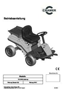 Betriebsanleitung. Modelle. Maschinen-Nr. TOURNO pick-up. Tourno pick-up, Tourno pick-up 4WD Originalbetriebsanleitung 697