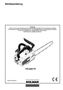 Betriebsanleitung PS-3400 TH