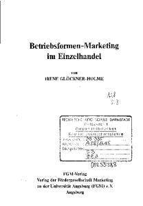 Betriebsformen-Marketing im Einzelhandel