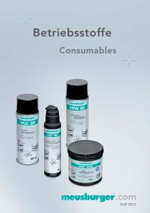 Betriebsstoffe. Consumables