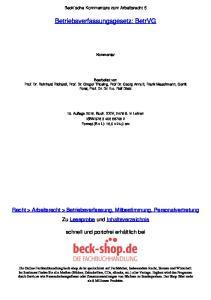 Betriebsverfassungsgesetz: BetrVG