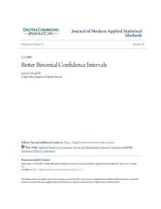 Better Binomial Confidence Intervals