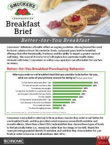 Better-for-You Breakfast