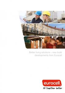 Better living solutions new build developments from Eurocell