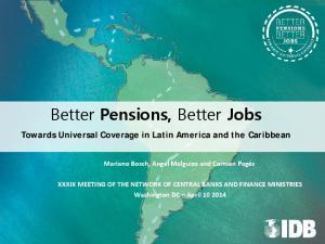 Better Pensions, Better Jobs
