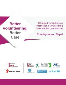 Better Volunteering, Better Care