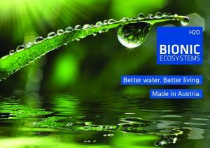 Better water. Better living. Made in Austria