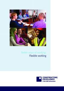 Better ways of working: Flexible working