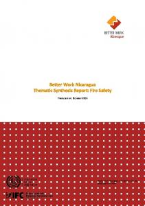 Better Work Nicaragua Thematic Synthesis Report: Fire Safety