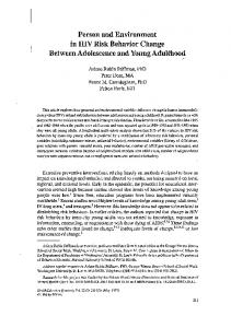 Between Adolescence and Young Adulthood