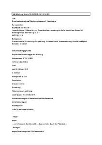 Beurlaubung eines Studenten wegen Erkrankung