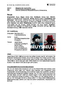 Beuys K I N O & C U R R I C U L U M