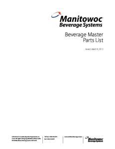 Beverage Master Parts List