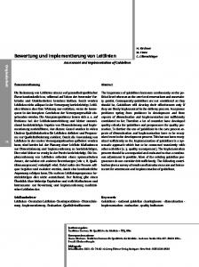 Bewertung und Implementierung von Leitlinien