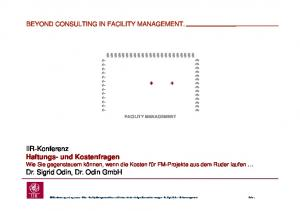 BEYOND CONSULTING IN FACILITY MANAGEMENT. ????????????? FACILITY MANAGEMENT