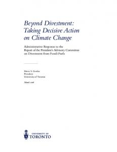 Beyond Divestment: Taking Decisive Action on Climate Change