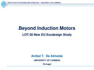 Beyond Induction Motors