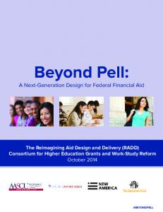 Beyond Pell: A Next-Generation Design for Federal Financial Aid