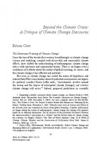 Beyond the Climate Crisis: A Critique of Climate Change Discourse