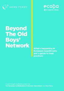 Beyond The Old Boys Network What s happening in