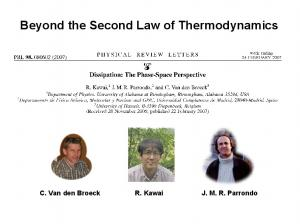 Beyond the Second Law of Thermodynamics